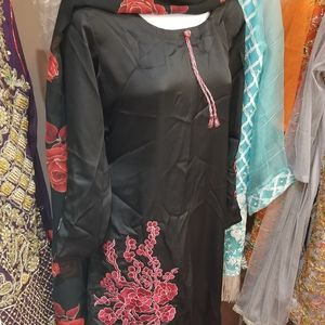 Silk embroidered pakistani dress